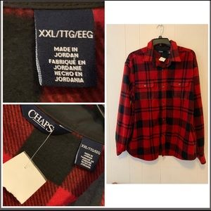 Chaps Button Down Flannel NWT XXL